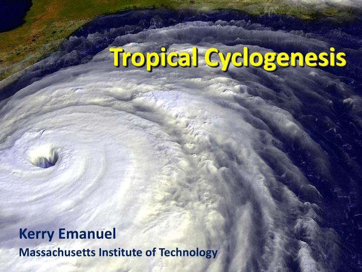 tropical cyclogenesis n.