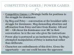 competitive games power games