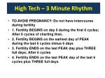 high tech 3 minute rhythm
