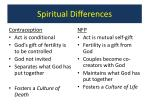 spiritual differences