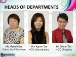 heads of departments