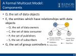 a formal multicast model components
