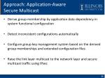 approach application aware secure multicast1