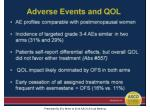 adverse events and qol