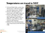 temperatures are traced to nist
