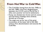 from hot war to cold war