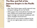 the rise and fall of the japanese empire in the pacific war