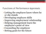 functions of performance appraisals