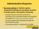 administrative response