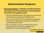 administrative response1