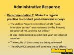 administrative response3