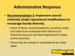 administrative response4