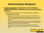 administrative response5