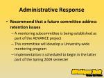 administrative response7