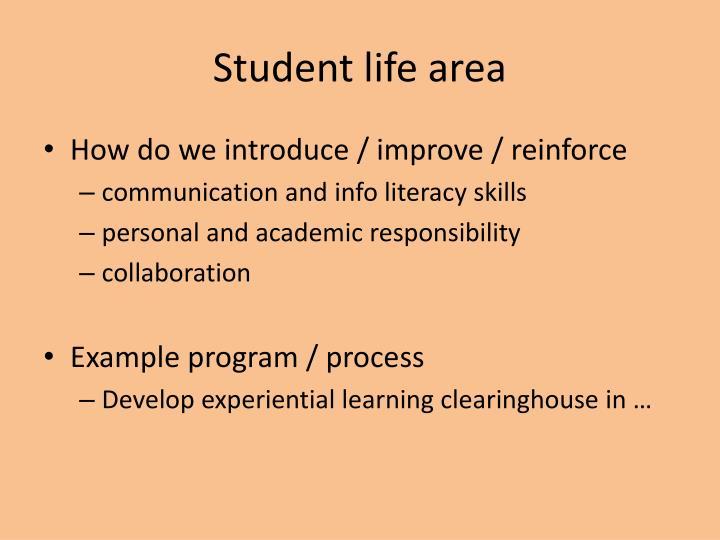 Student life area