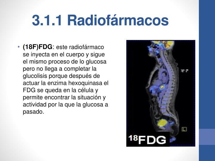 3.1.1 Radiofármacos