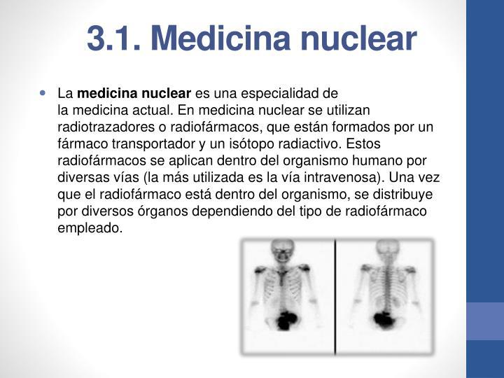3.1. Medicina nuclear