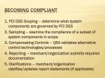 becoming compliant