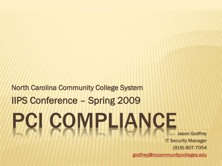 north carolina community college system iips conference spring 2009 n.