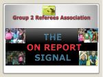group 2 referees association