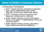 dawn of modern computer science1