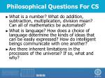 philosophical questions for cs