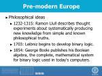 pre modern europe