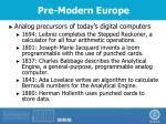 pre modern europe1