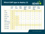 which eap type to deploy 3