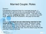 married couple roles