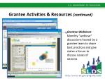 grantee activities resources continued2