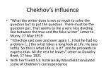 chekhov s influence