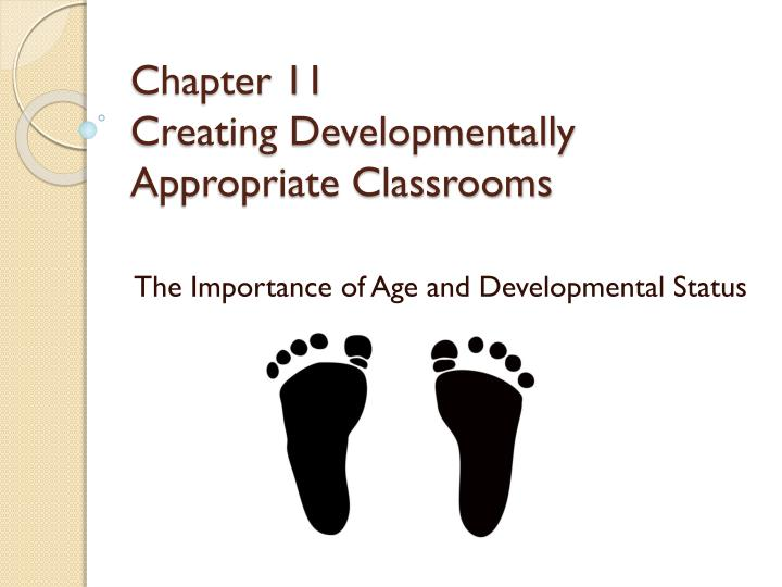 chapter 11 creating developmentally appropriate classrooms n.