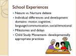 school experiences