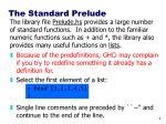 the standard prelude