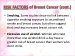 risk factors of breast cancer cont1