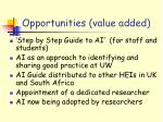 opportunities value added1