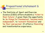 propositional statement 6