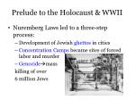prelude to the holocaust wwii2