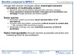 benefits compared to mpeg 7