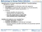 methodology for design pattern definition