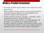 media produk fermentasi
