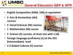 general education gep gfr