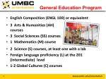 general education program