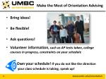 make the most of orientation advising1