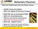 mathematics placement