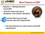 more features of gep