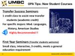opa tips new student courses1