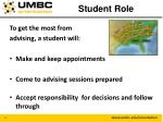 student role