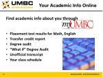 your academic info online